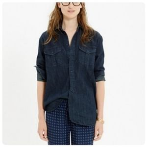{ madewell } signature worn in denim work shirt